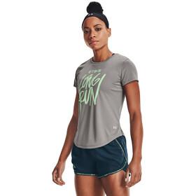 Under Armour Long Run Graphic Kortærmet skjorte Damer, grå